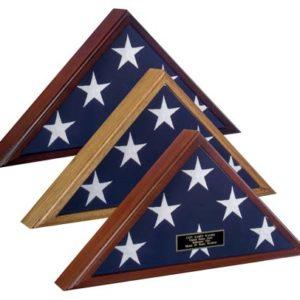 Spartacraft Veteran Wood Flag Case Display