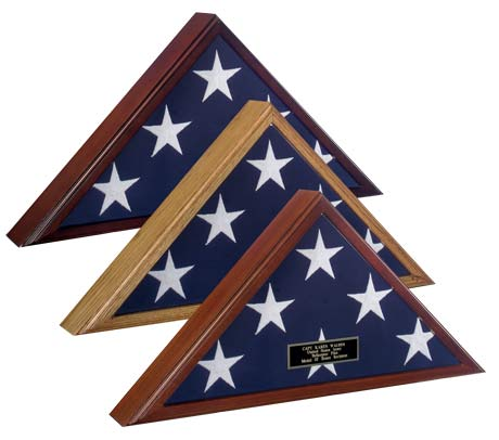 Spartacraft Veteran Wood Flag Case Display