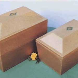 Antique Gold-Tone Pyramid Burial Urn Vault – Case of 3