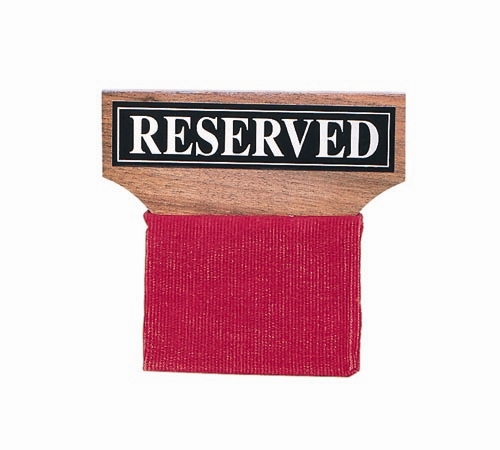 Wood Reserved Seat Sign from Church & Chapel.