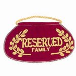 Reserved Family Seat Sign Church & Chapel.