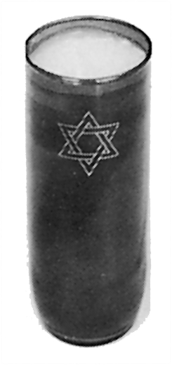 Seven Day Star of David Candle Jewish Funeral Service.