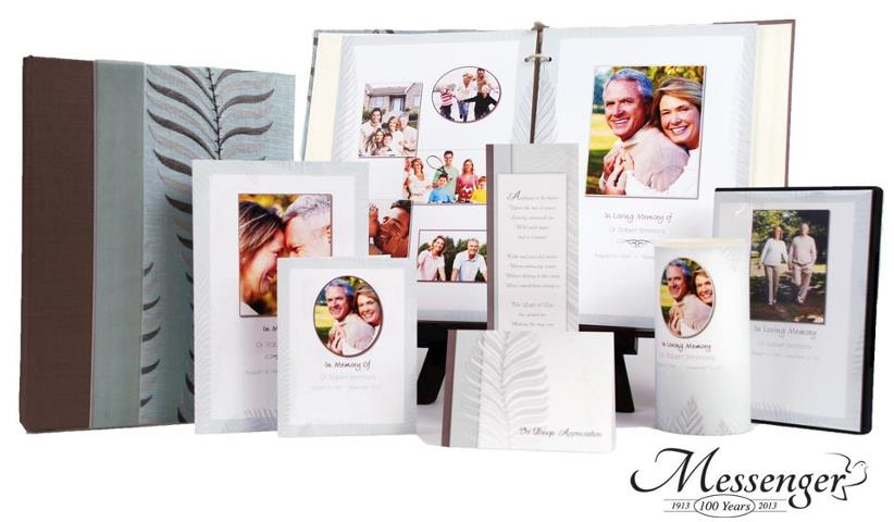 Funeral Stationary Products from Messenger.